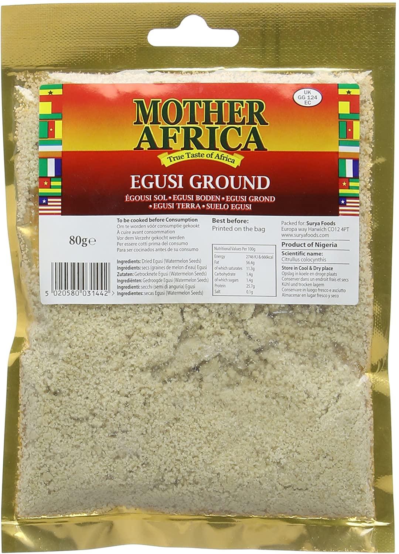 Mother Africa Ground Egusi 80G